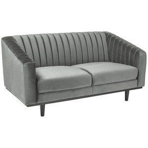 Alden 2-sits soffa - Grå sammet / Wenge