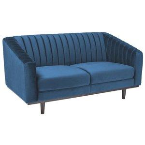 Alden 2-sits soffa - Blå Sammet / Wenge